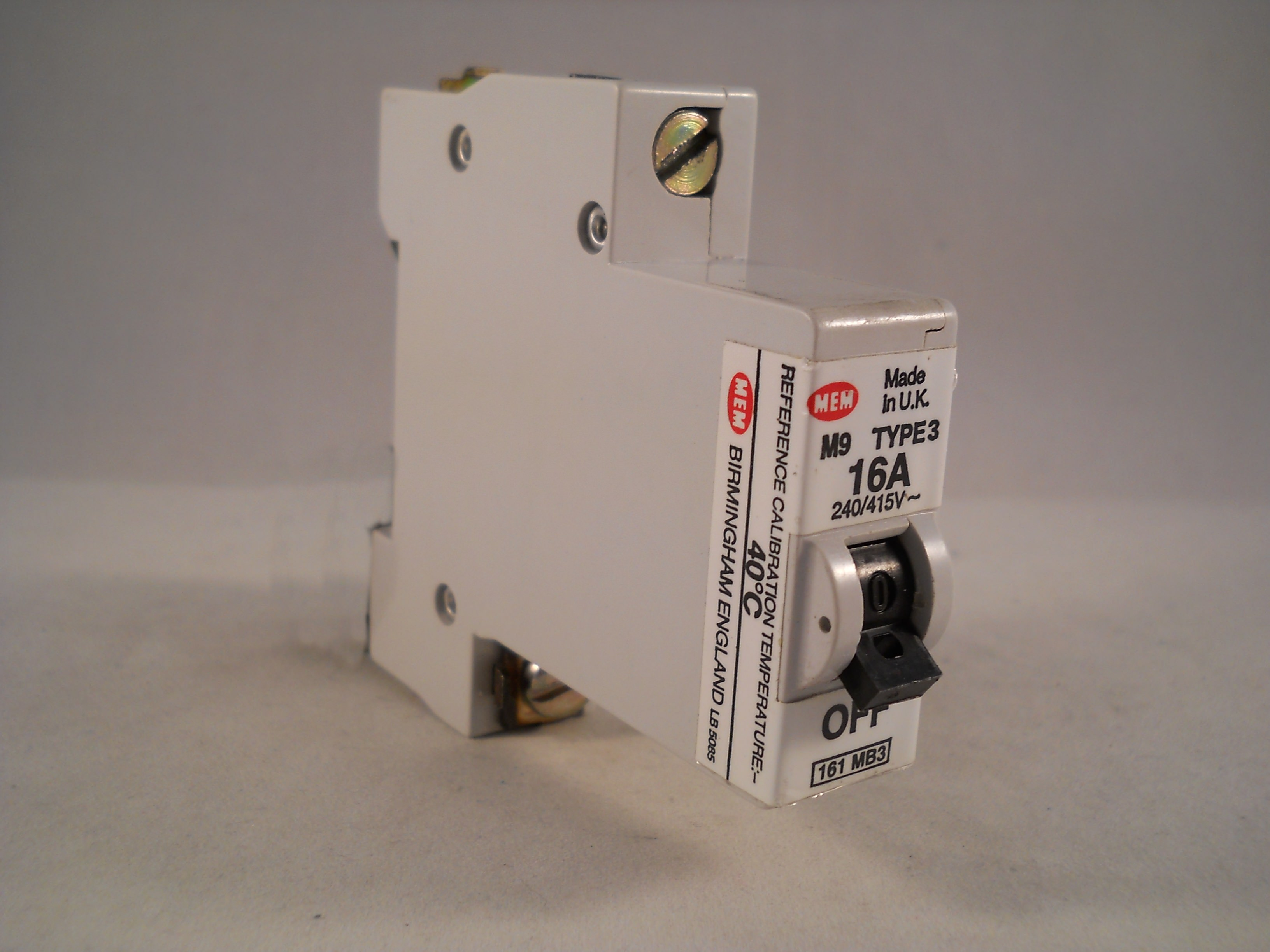 Mem Mcb Type 3 16 Amp M9 Single Pole 16a Memshield Circuit