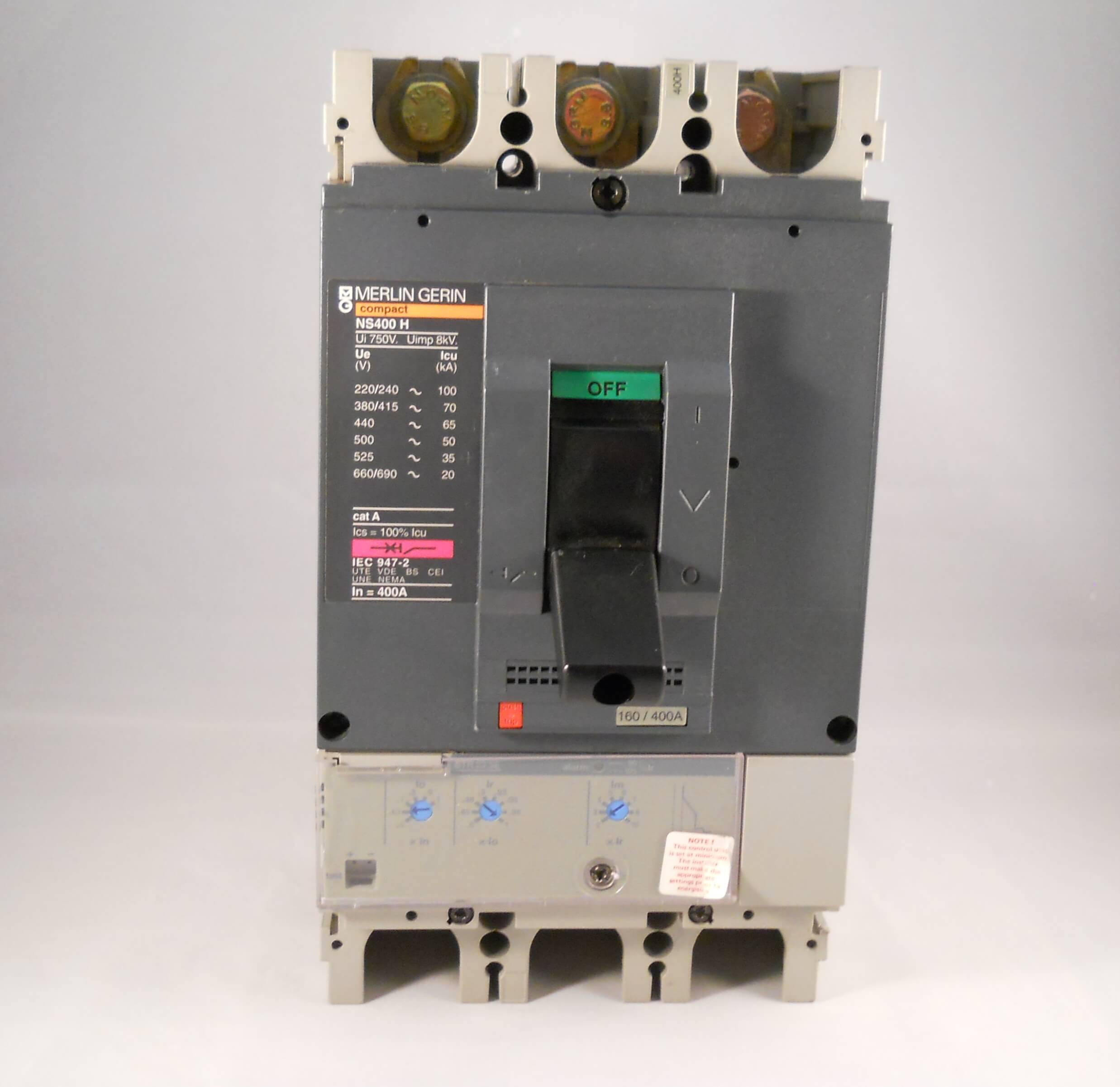 Merlin Gerin Mccb 400 Amp Triple Pole 3 Phase Compact 400a
