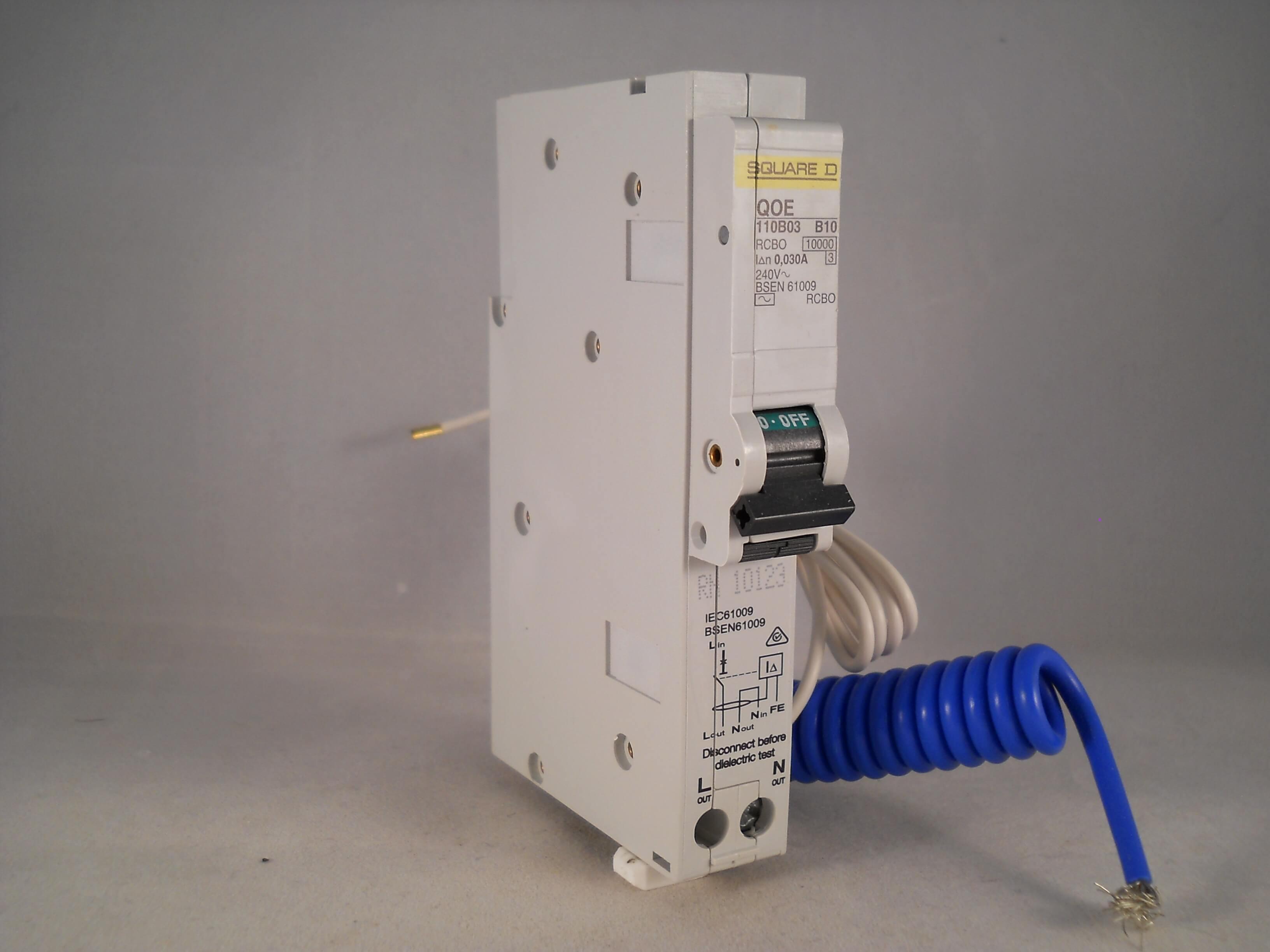 square d qoe rcbo 10 amp 30ma type b 10a qwikline qoe110b03 new