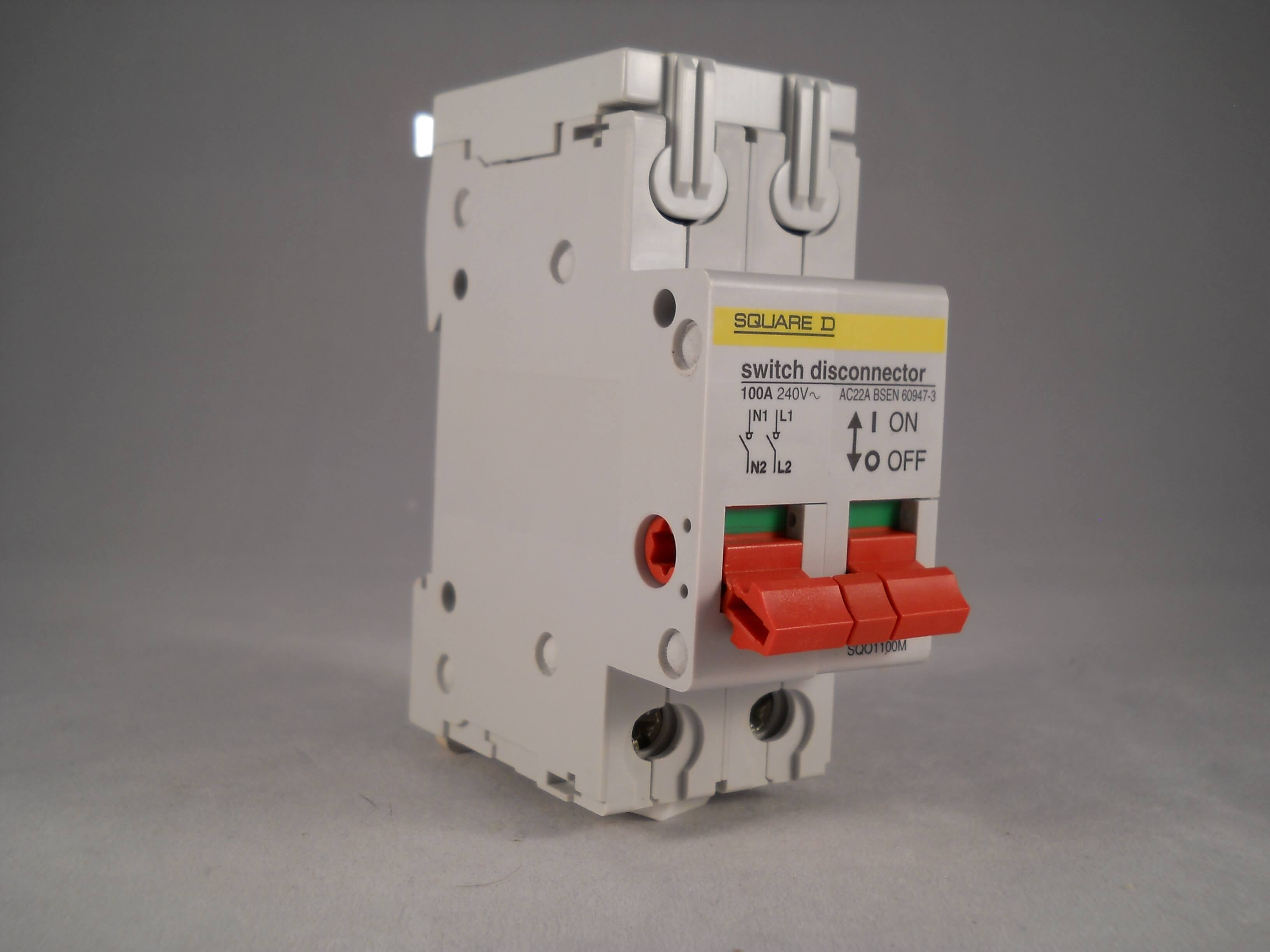 Square D SQO 100 Amp Main Switch 100A Double Pole Isolator Qwikline ...
