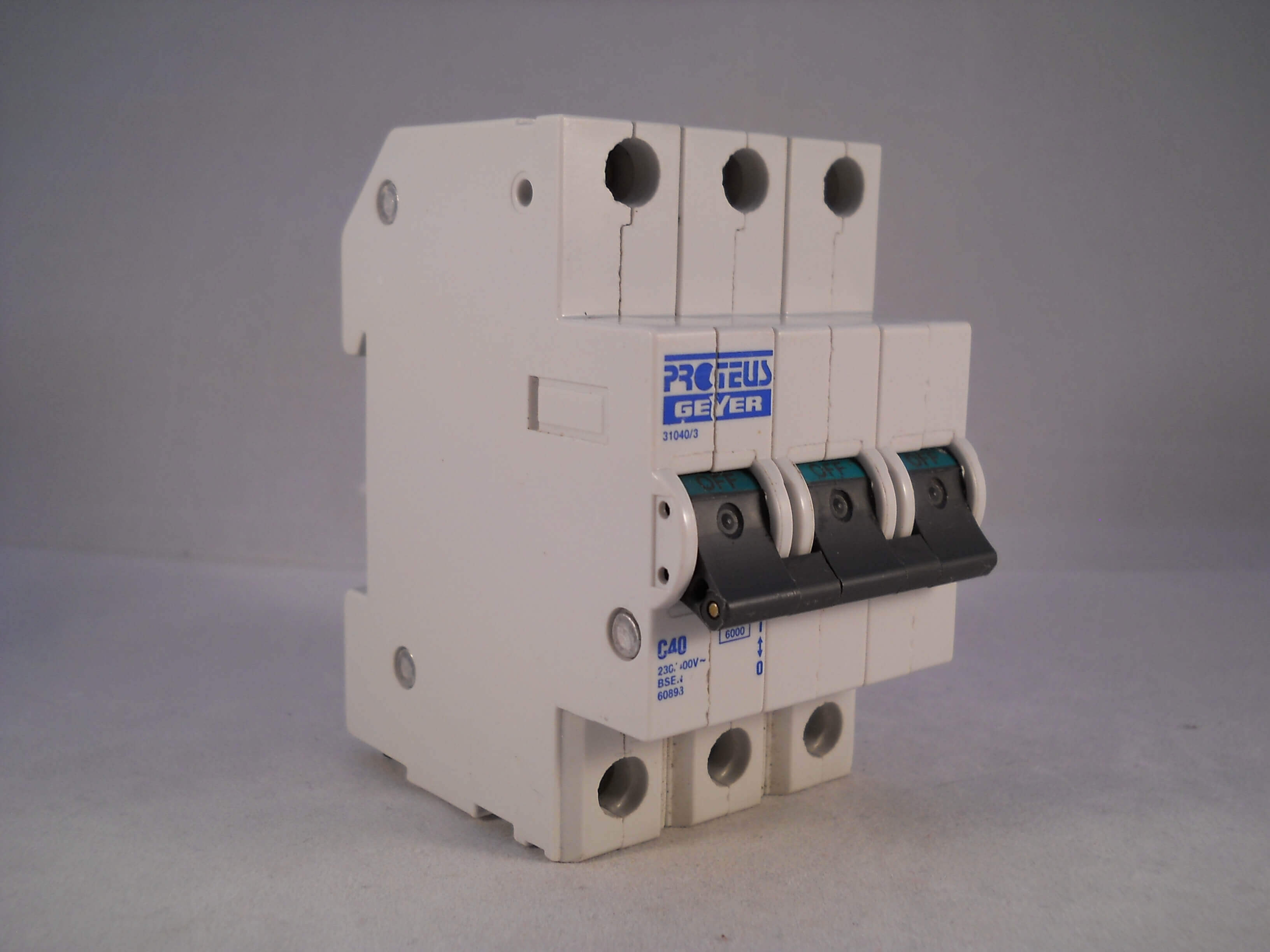 Type C Circuit Breakers Everything About Wiring Diagram Mpd2200 Murray Breaker New Used And Obsolete Proteus Mcb 40 Amp Triple Pole 3 Phase 40a B D