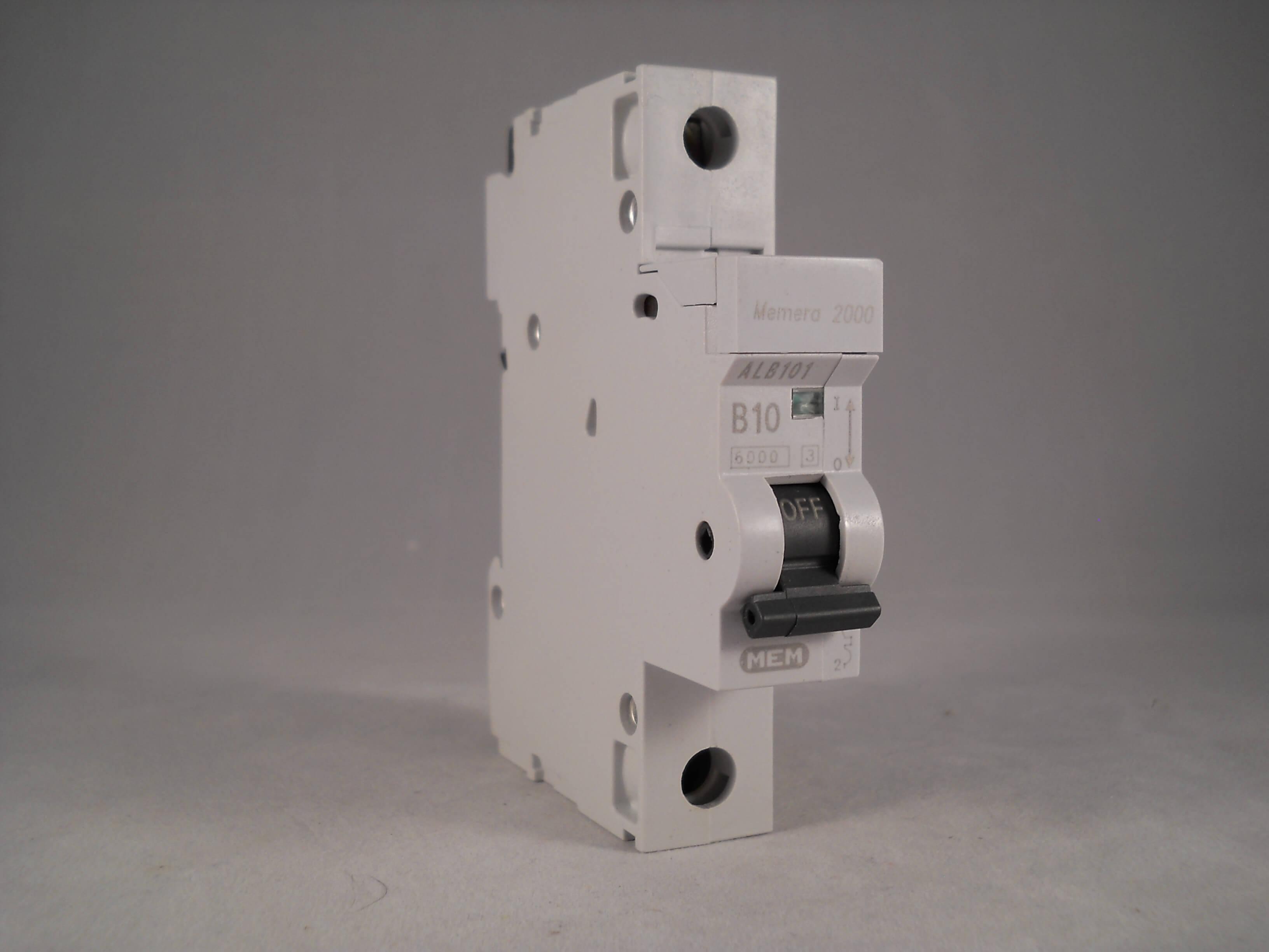 MEM Memera 2000 ALB101-10a Type B Single Pole MCB Used