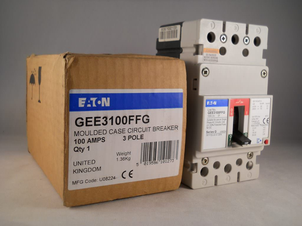 Eaton Mccb 100 Amp Triple Pole 100a 3 Phase Series G Geb3100ffg Cutler Hammer Main Breaker Panel Gee3100ffg New Willrose Electrical Discontinued Obsolete Circuit Breakers