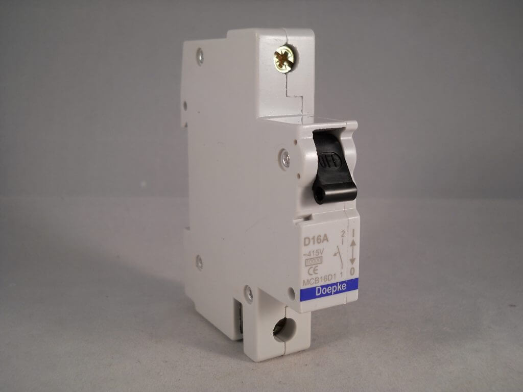 Doepke Mcb 16 Amp Single Pole Circuit Breaker Type D 16a