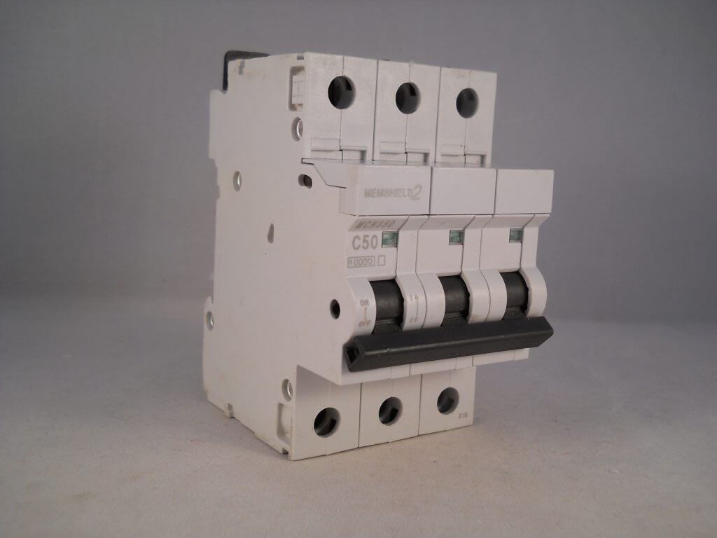 Mem Mcb 50 Amp Triple Pole 3 Phase Breaker Type C 50a C50