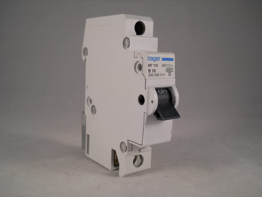 Hager Mcb 10 Amp Single Pole Circuit Breaker Type B 10a