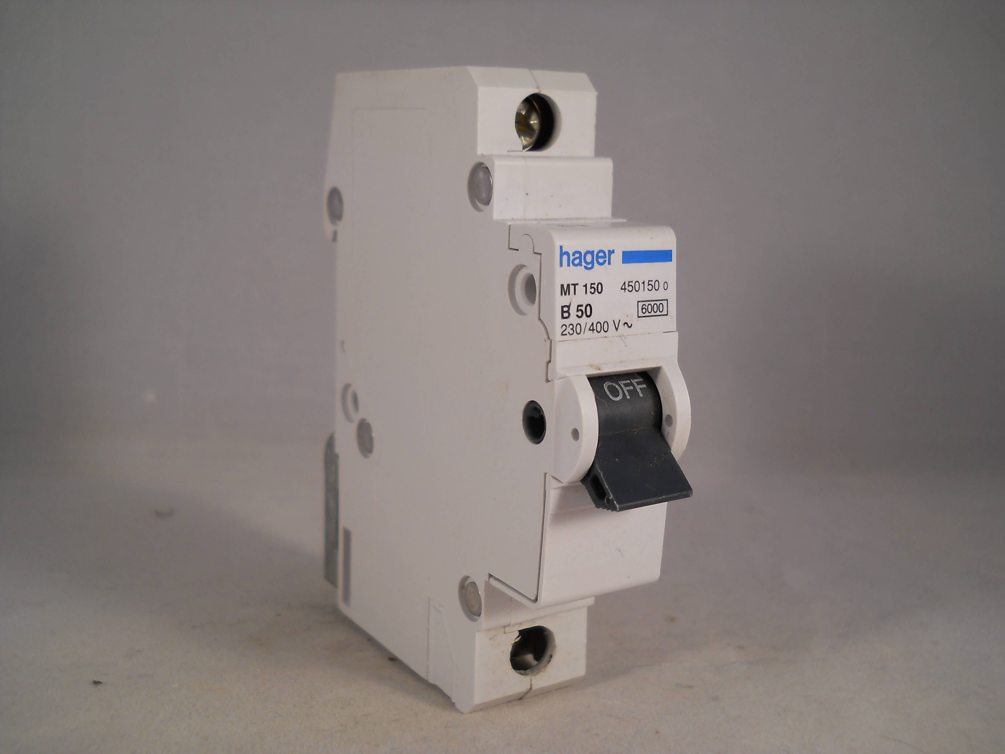 Hager Electrical Fuse Box : Hager mcb amp single pole circuit breaker type b a