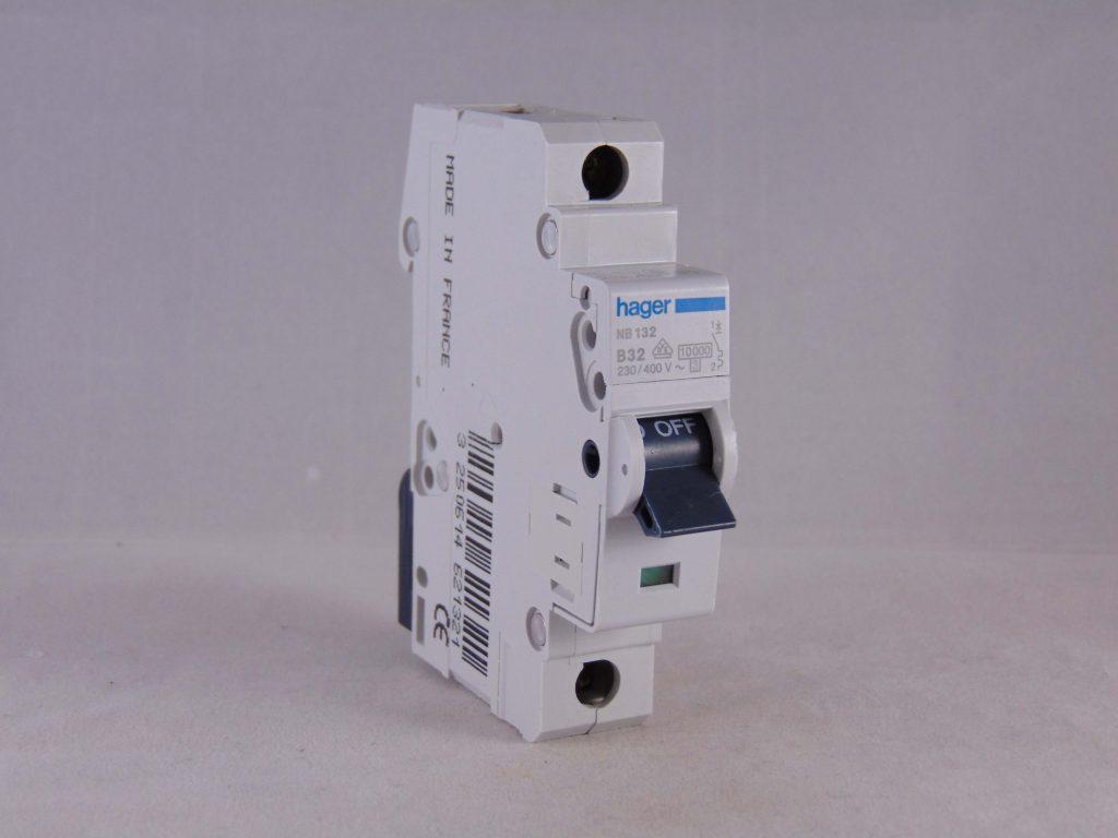Hager Mcb 32 Amp Single Pole Circuit Breaker Type B 32a