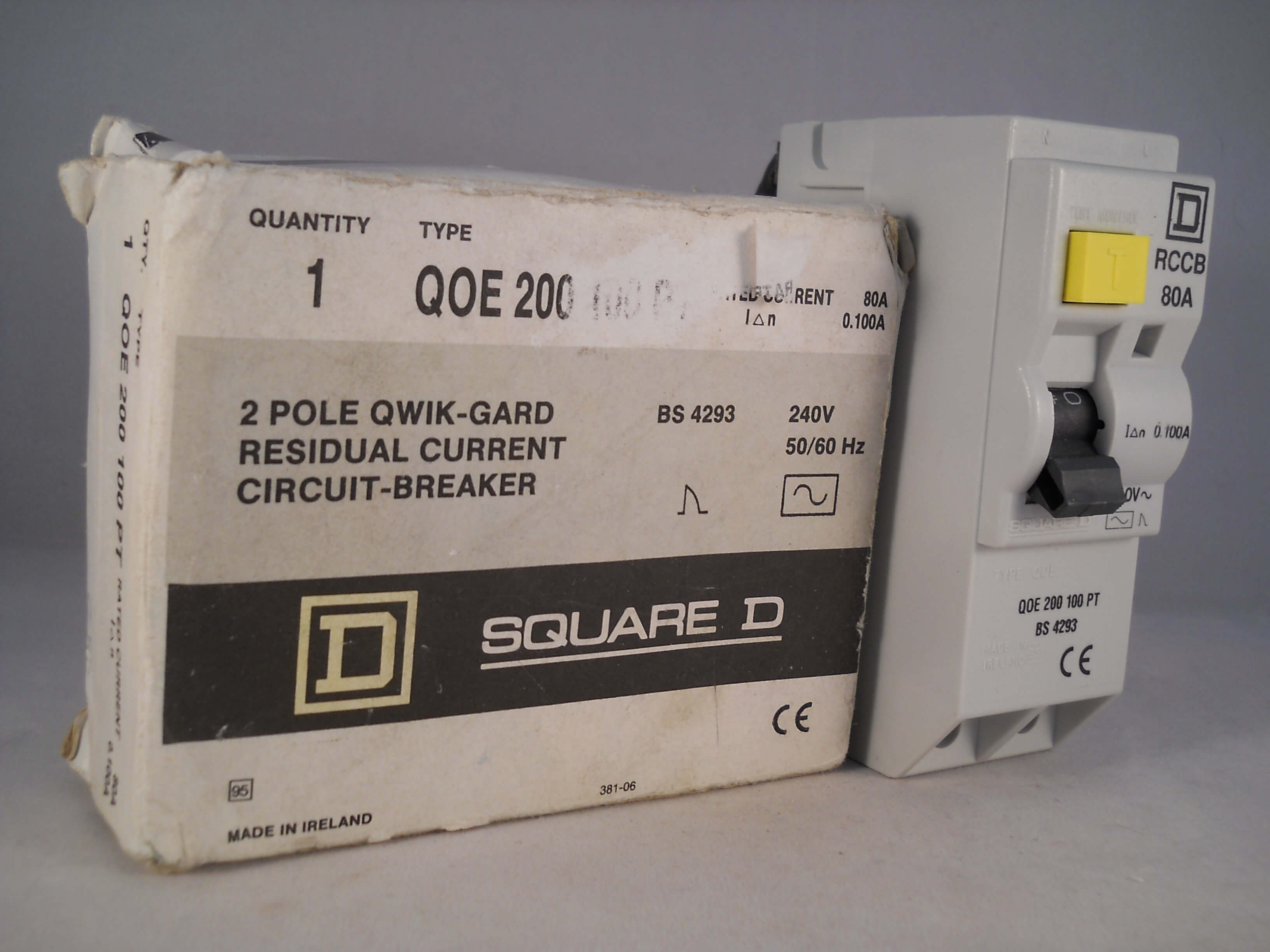 Qwikline Fuse Box : Square d rcd amp ma double pole a type qoe rccb