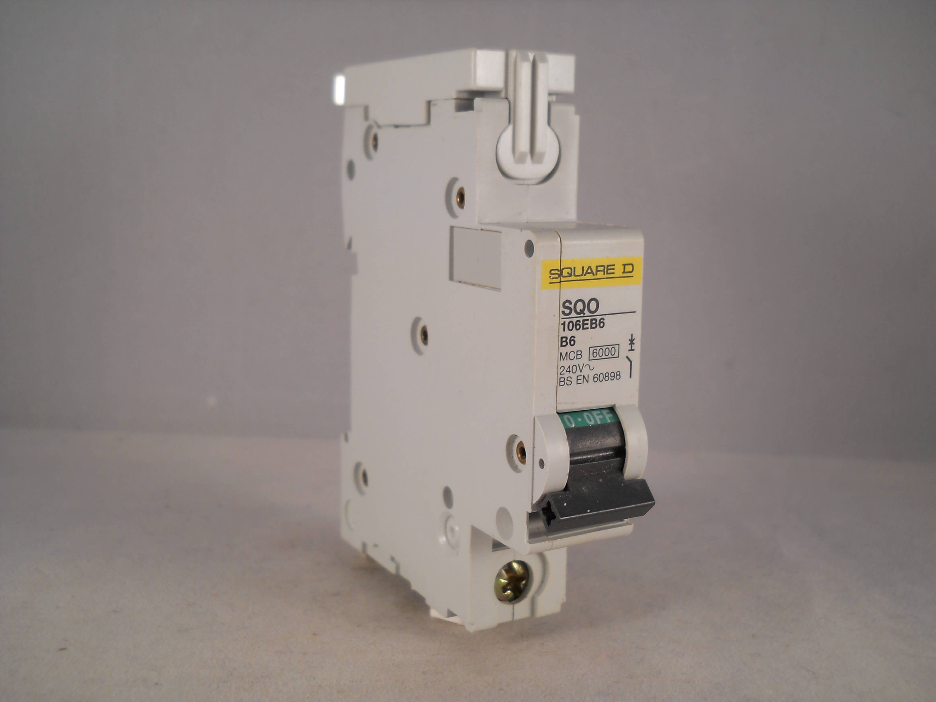 Square D Mcb 6 Amp Single Pole Breaker Type B 6a Sqo