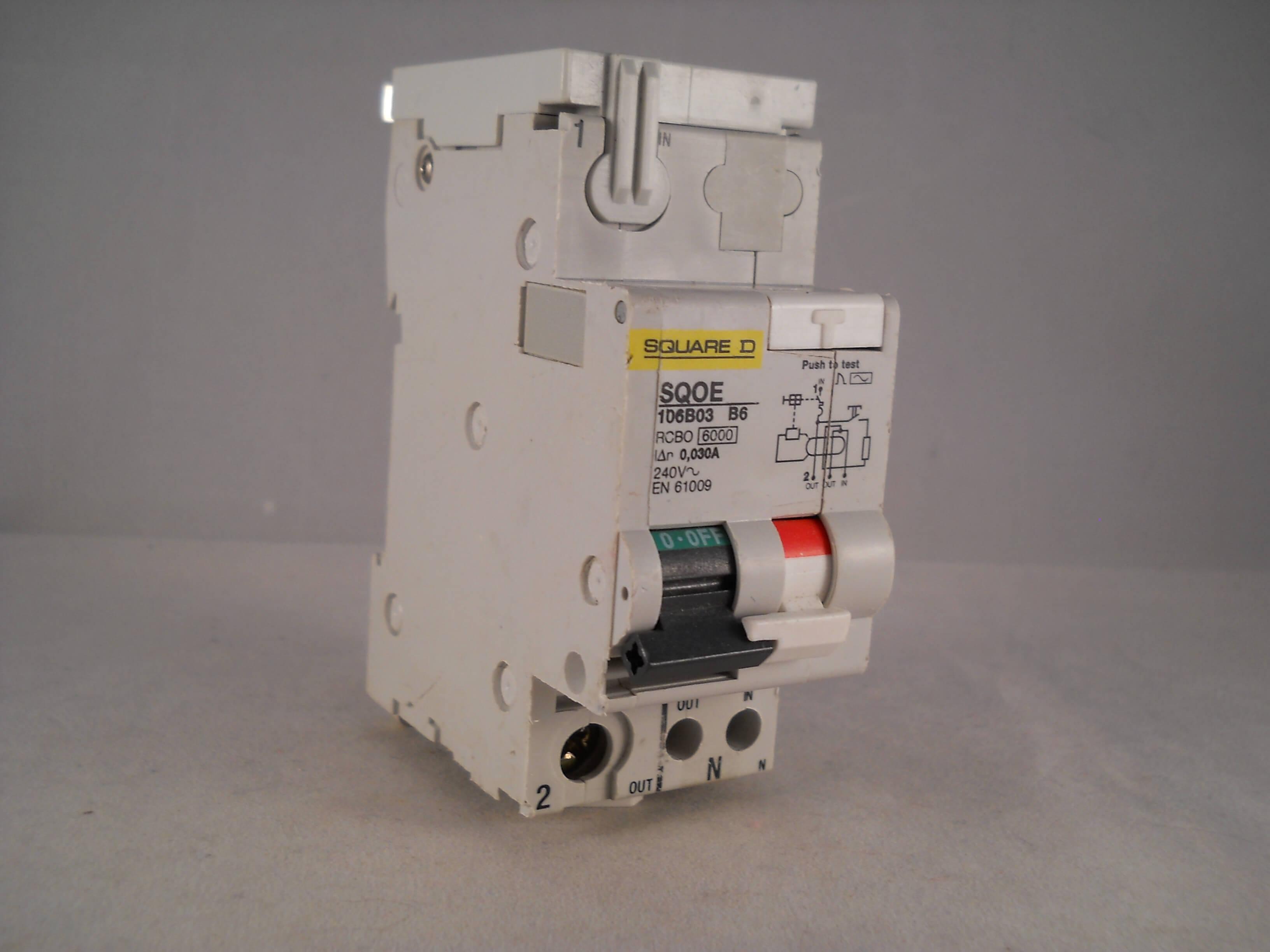 square d rcbo 6 amp 30ma type b 6a sqoe qwikline schneider rh willrose electrical co uk Automotive Fuse Box Duramax Fuse Box Universal