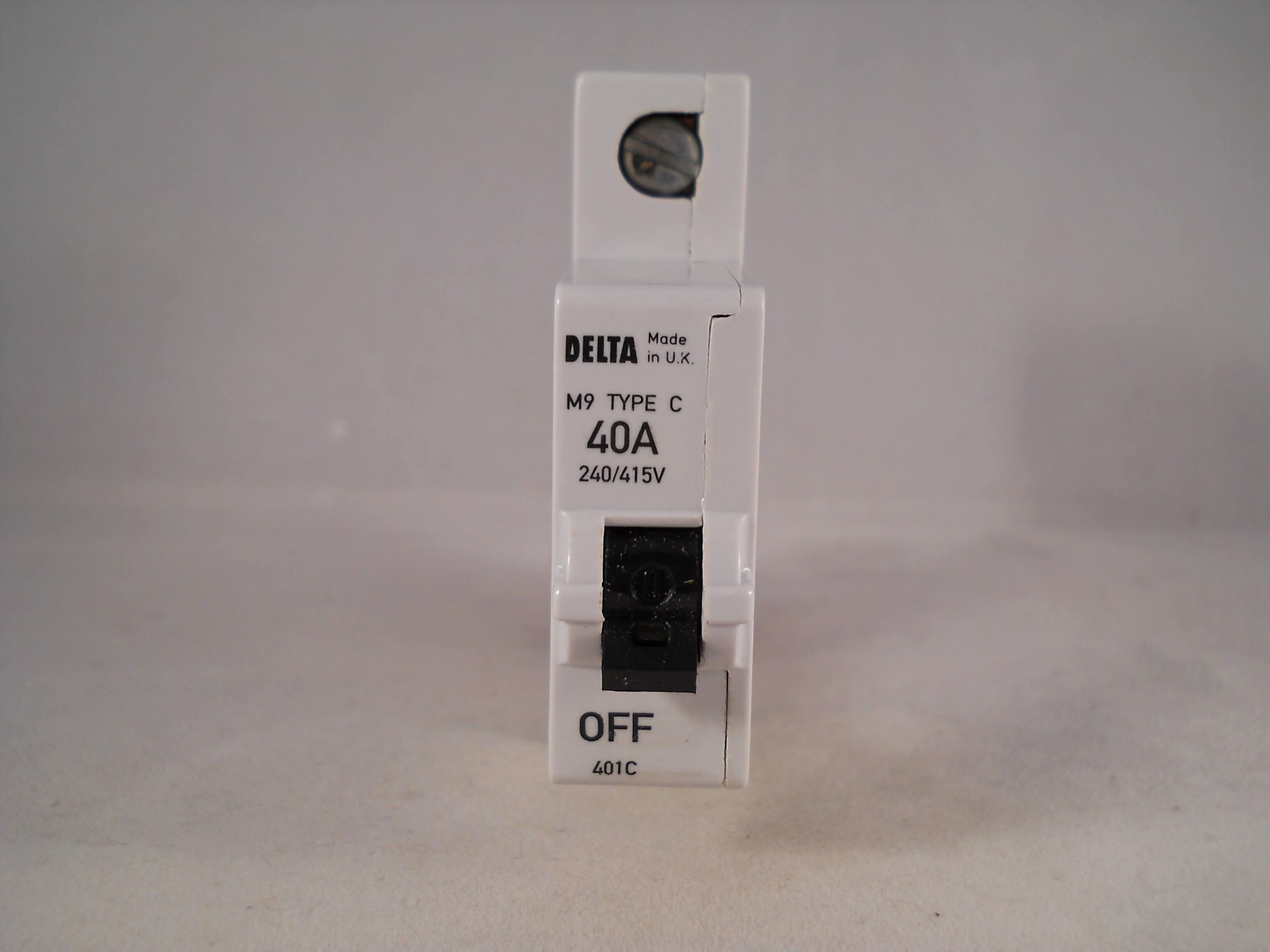 Delta 401C M9 Type C 40Amp MCB