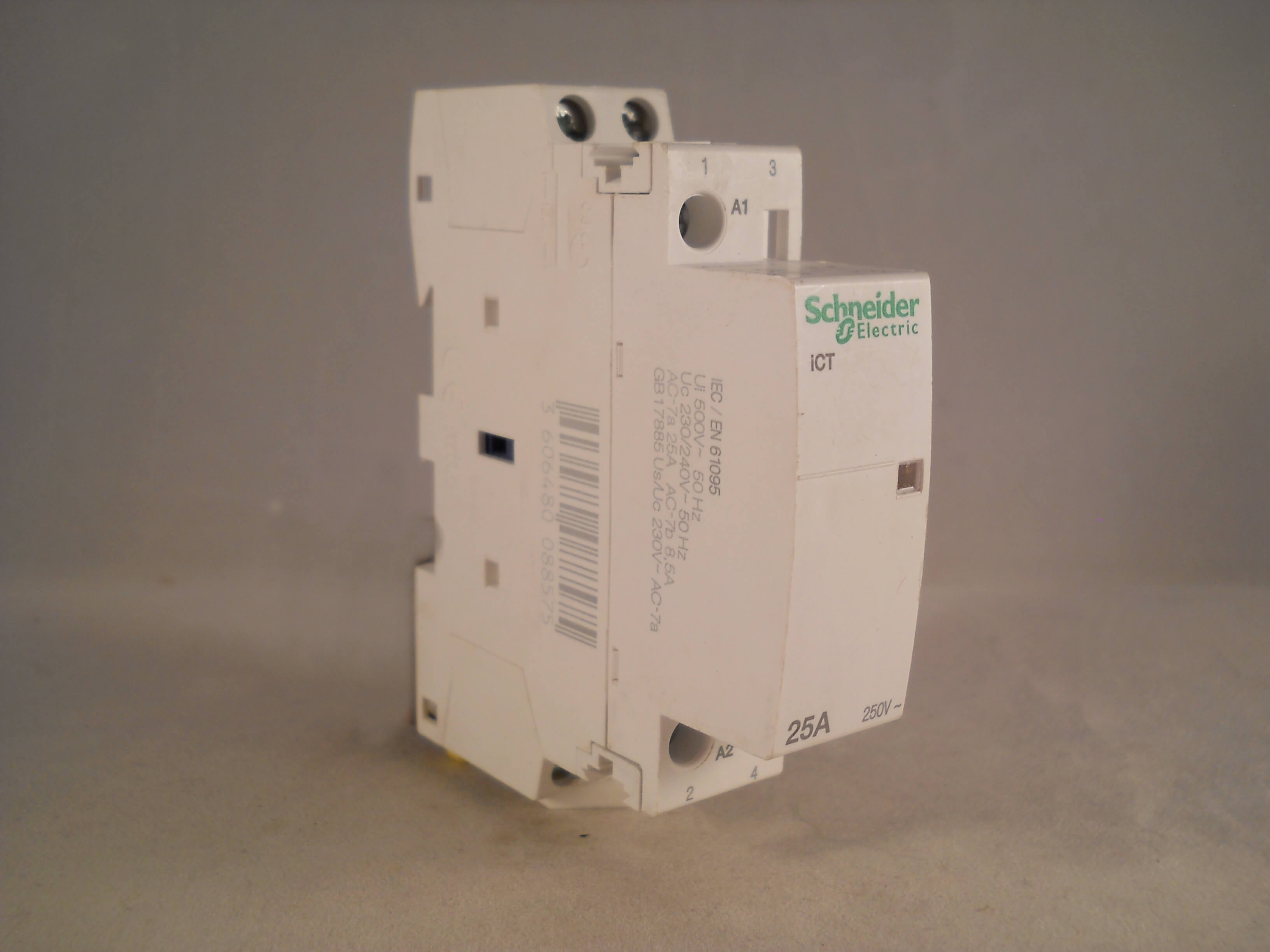 Schneider Contactor 25 Amp 2 Pole 240vac Coil N O Acti 9 25a Ict 240 3 Phase Wiring