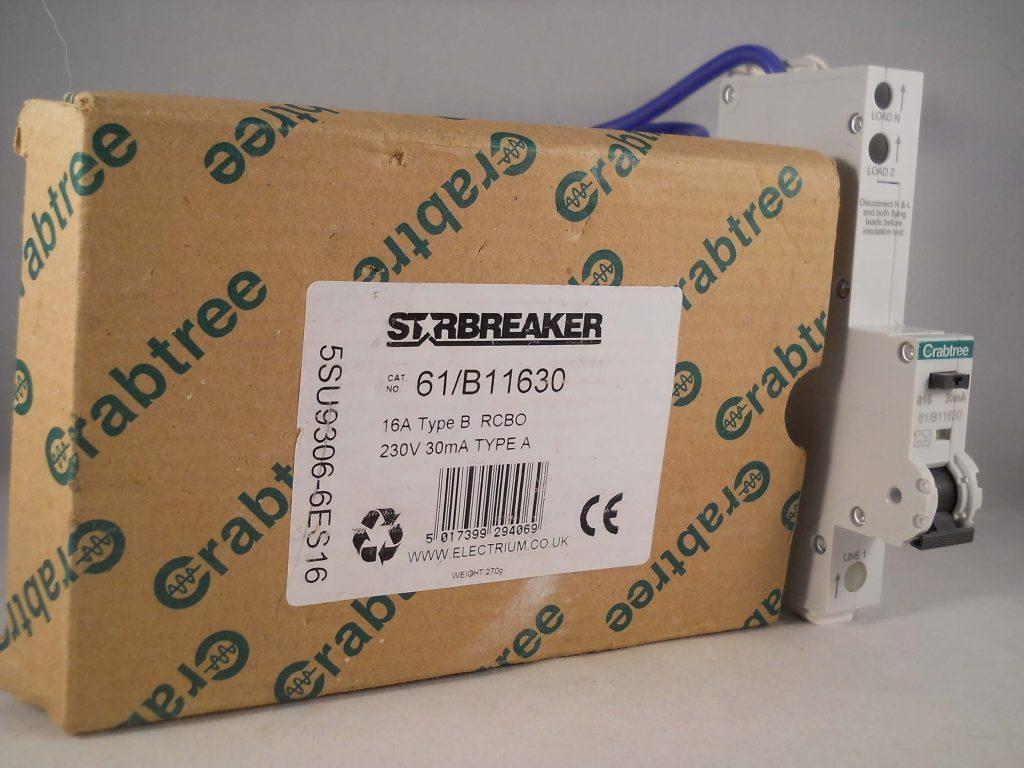 Crabtree 61//B11630 RCBO B16 16A 30mA