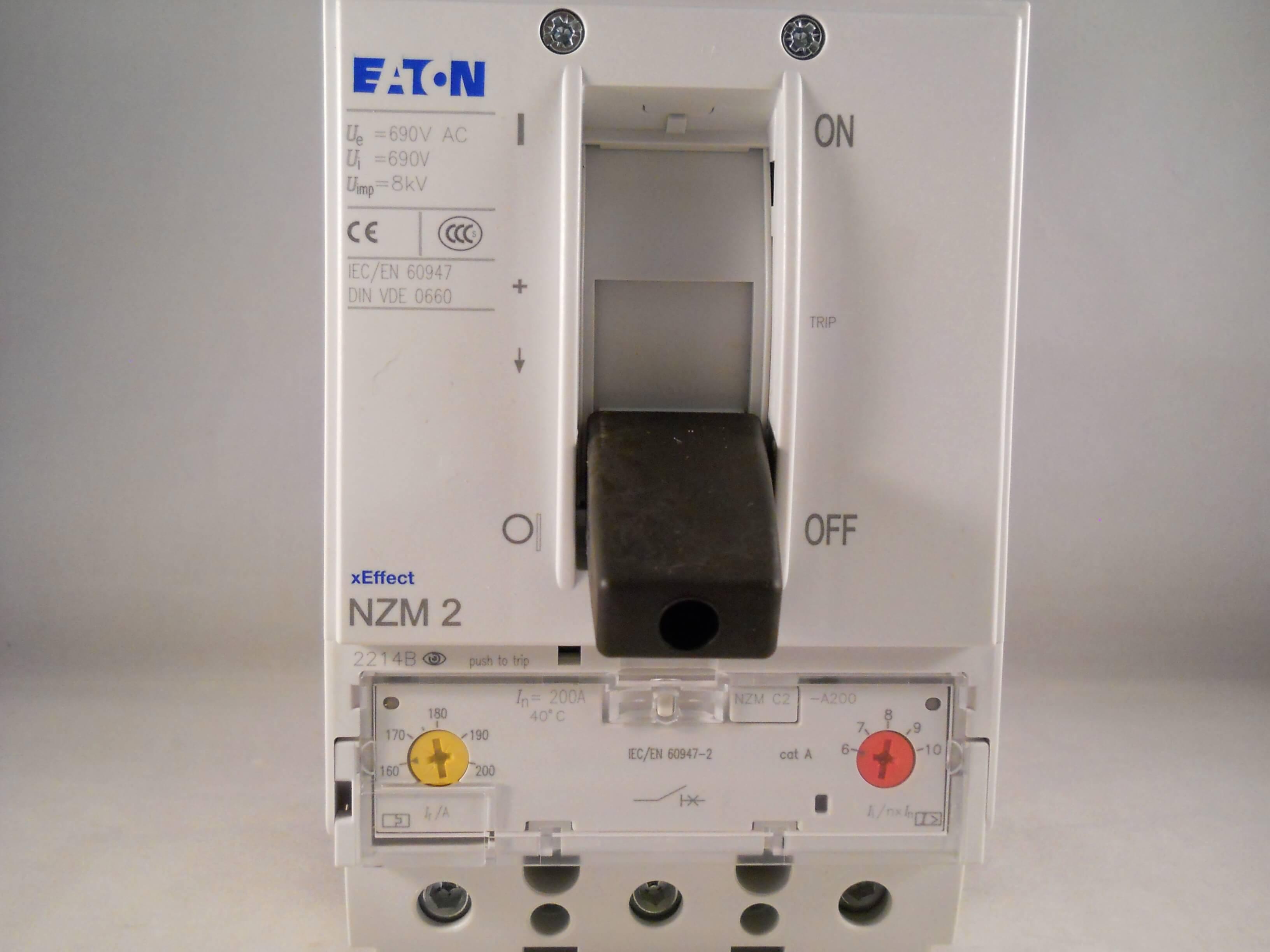 Eaton Mem Mccb 200 Amp Triple Pole 200a 3 Phase Memshield