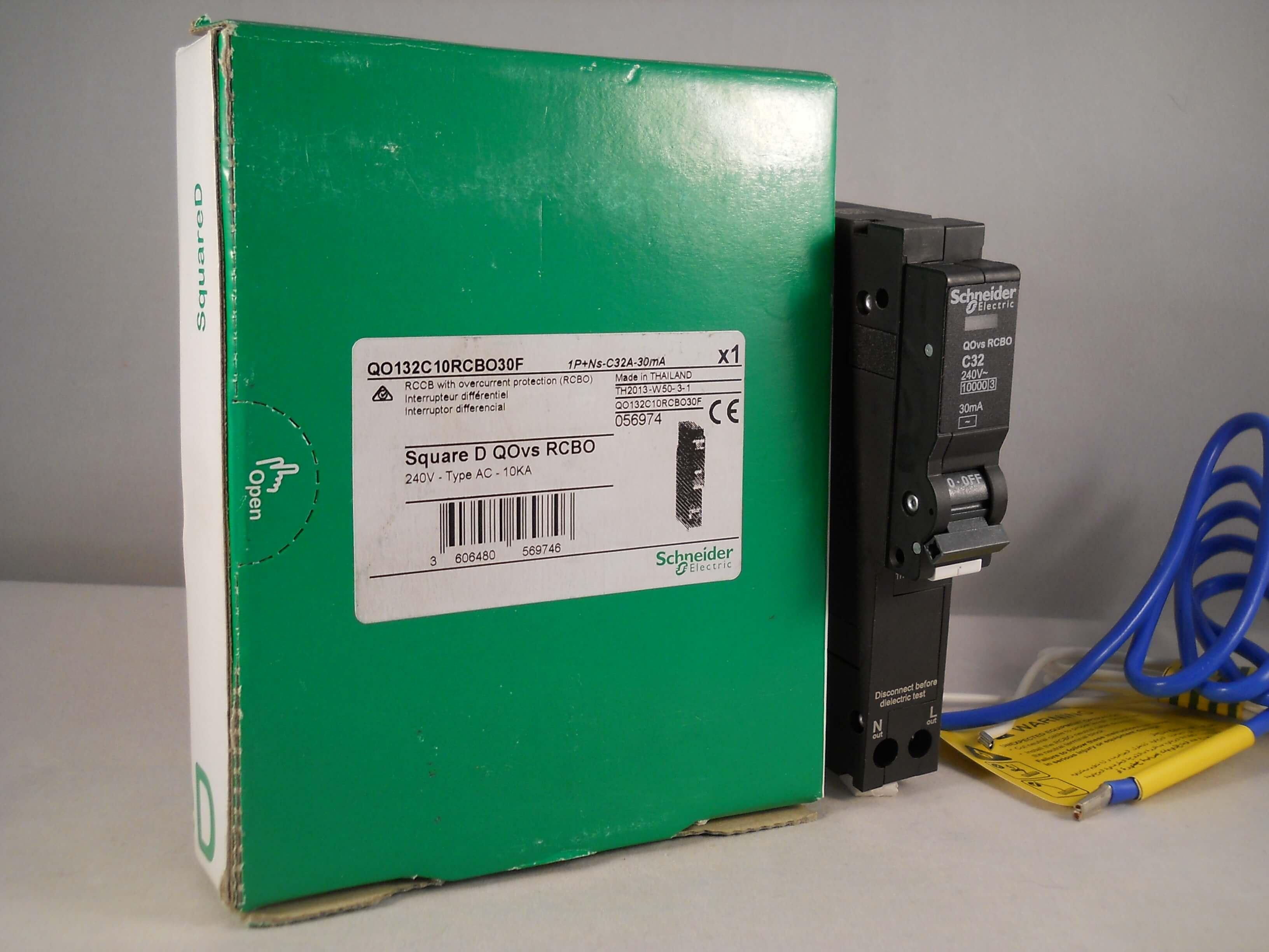 c type 30ma 10ka SCHNEIDER ELECTRIC SQUARE D MCB//RCD 10amp RCBO