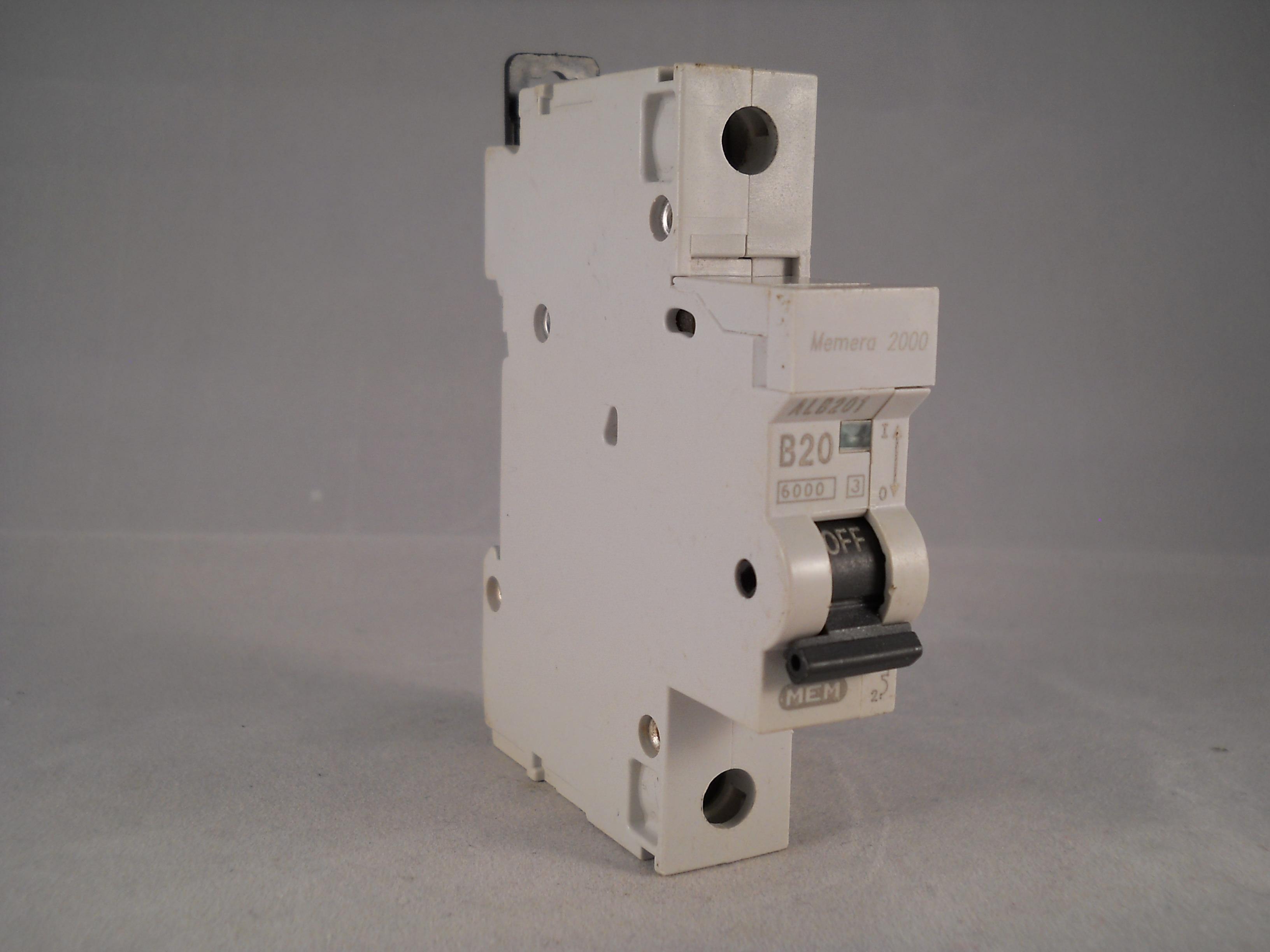 ALB201 1 1 mem memera 2000 mcb 20 amp type b 20a single pole breaker memera 2000 fuse box at gsmx.co