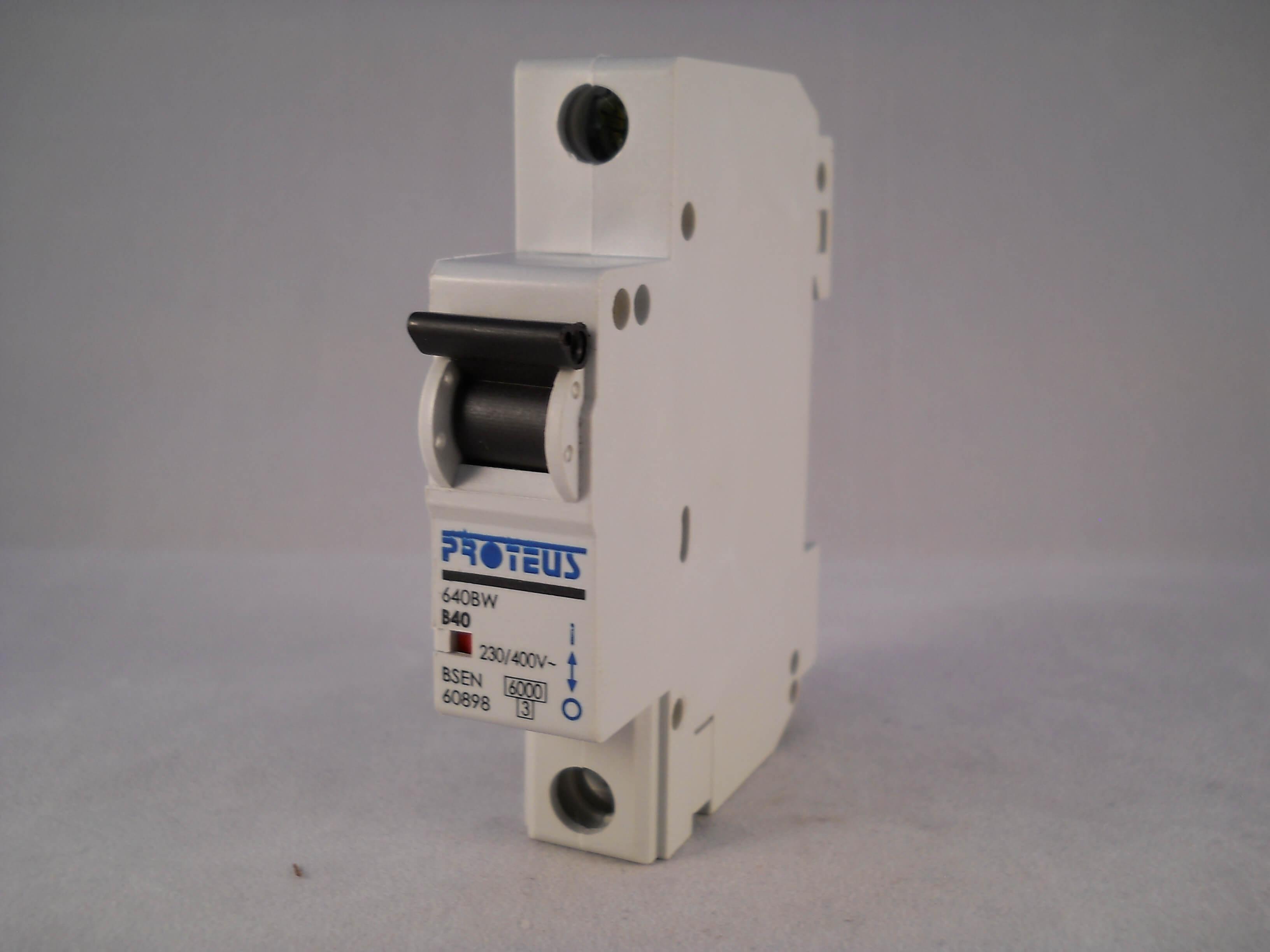 Proteus 40 Amp Type B MCB Circuit Breaker 640BW