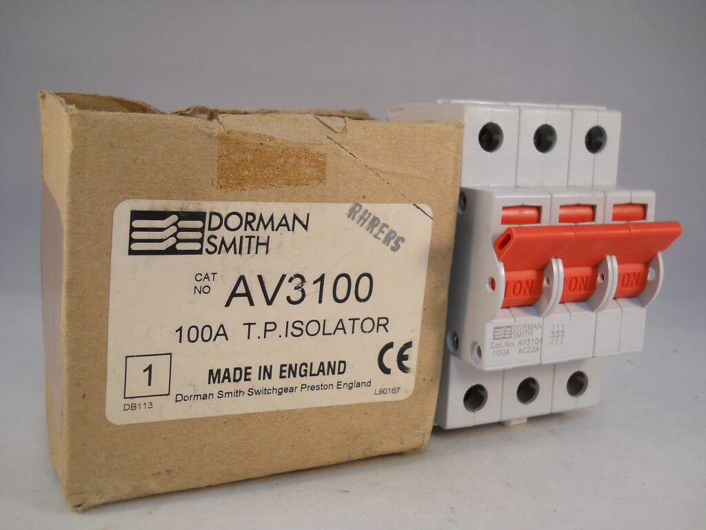 DORMAN SMITH LOADMASTER SERIES 15 100A DOUBLE POLE ISOLATOR.