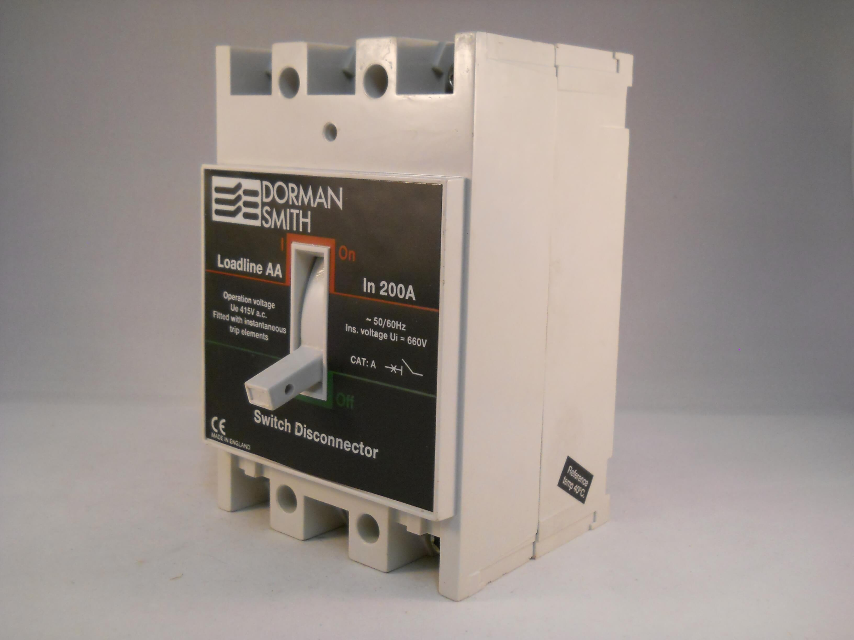 Dorman Smith Loadline 200 Amp Triple Pole 200a Switch Disconnector Between Disconnectors Load Switches And Circuit Llsaat200