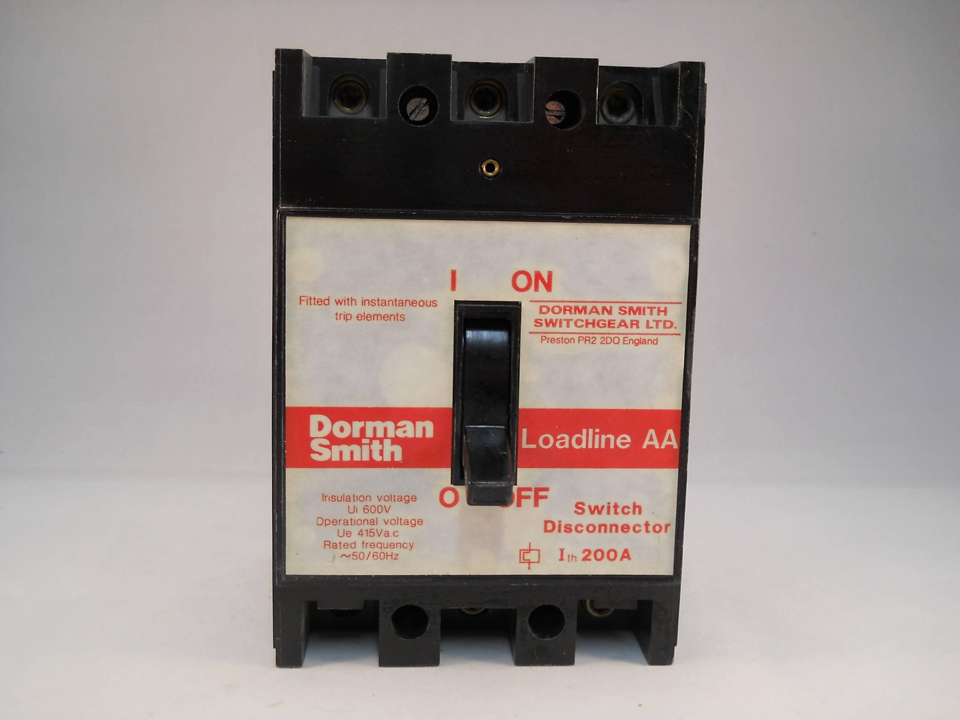 dorman smith loadline 200 amp triple pole 200a switch. Black Bedroom Furniture Sets. Home Design Ideas