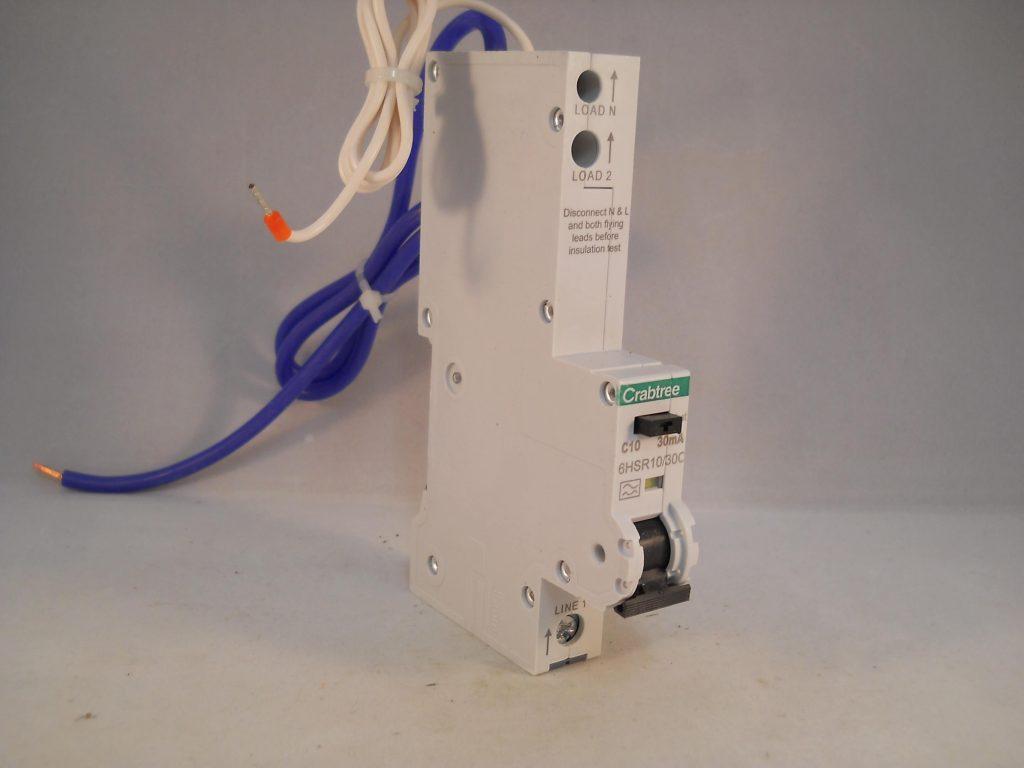 CRABTREE 10 Amp TYPE C 10 kA 30 mA RCBO RCD MCB 6HSR10//30C LOADSTAR