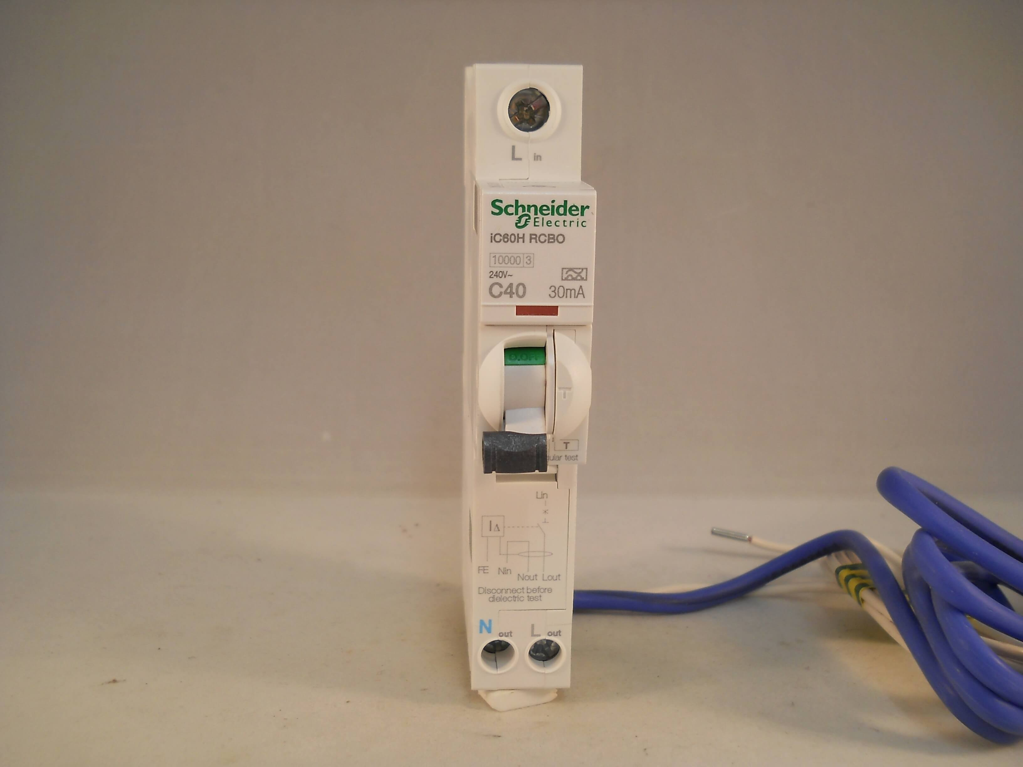 Schneider Rcbo 40 Amp 30ma Type C 40a Acti9 Ic60h Merlin