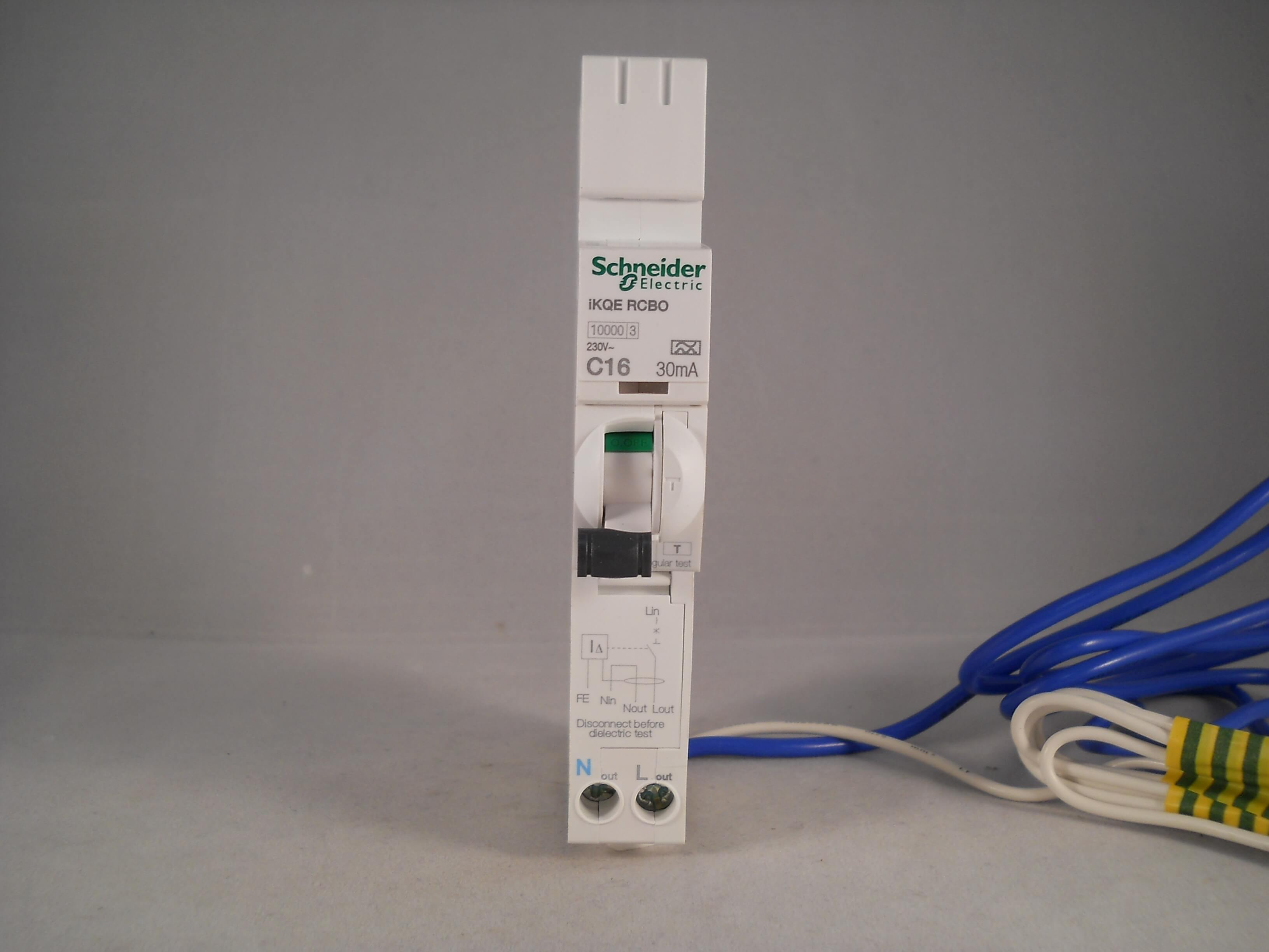 schneider rcbo 16 amp 30ma type c 16a c16 ikqe kqe acti9 square d see116c03 new