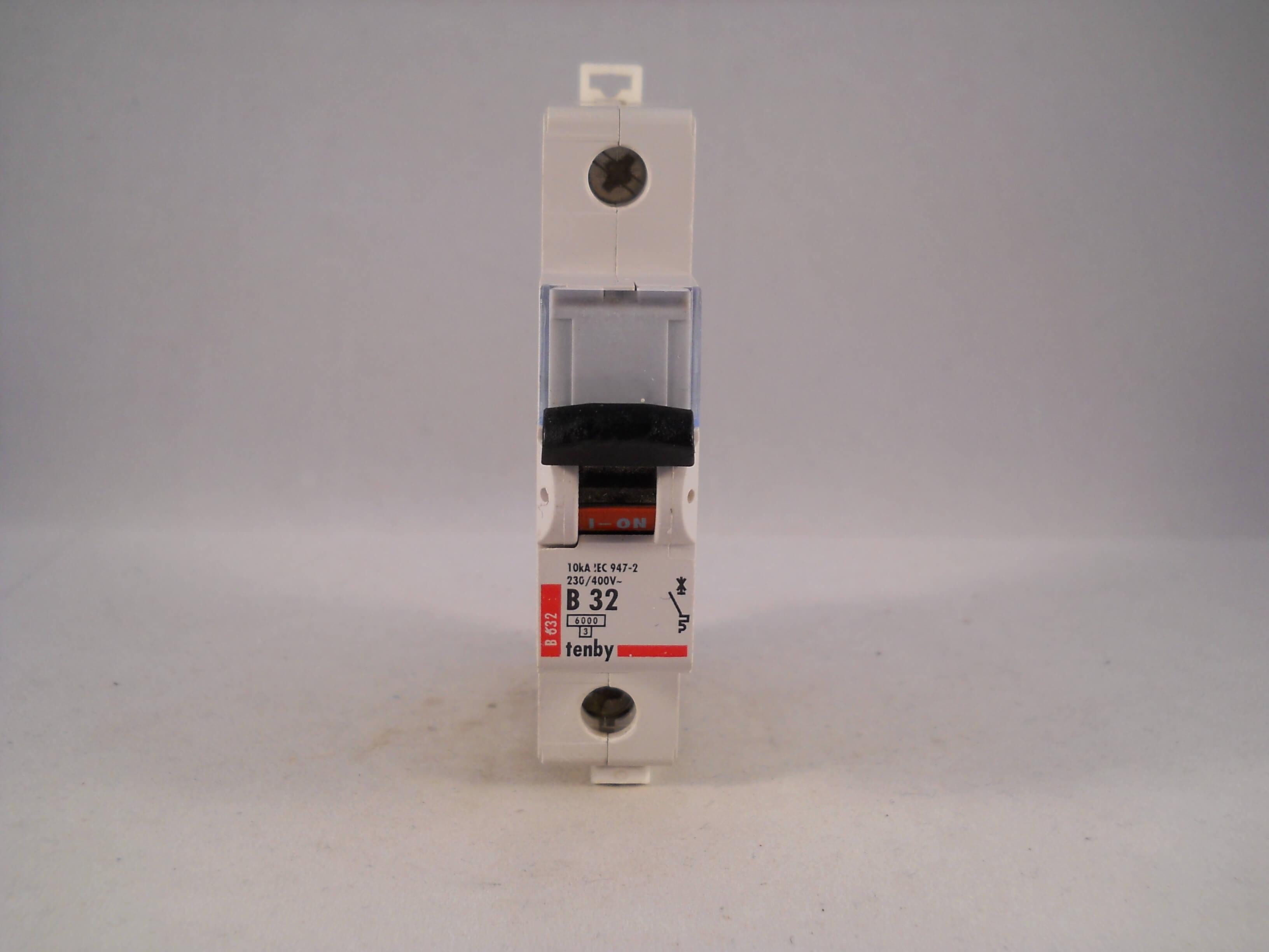 TENBY 32 Amp type B 6kA MCB Disjoncteur B632
