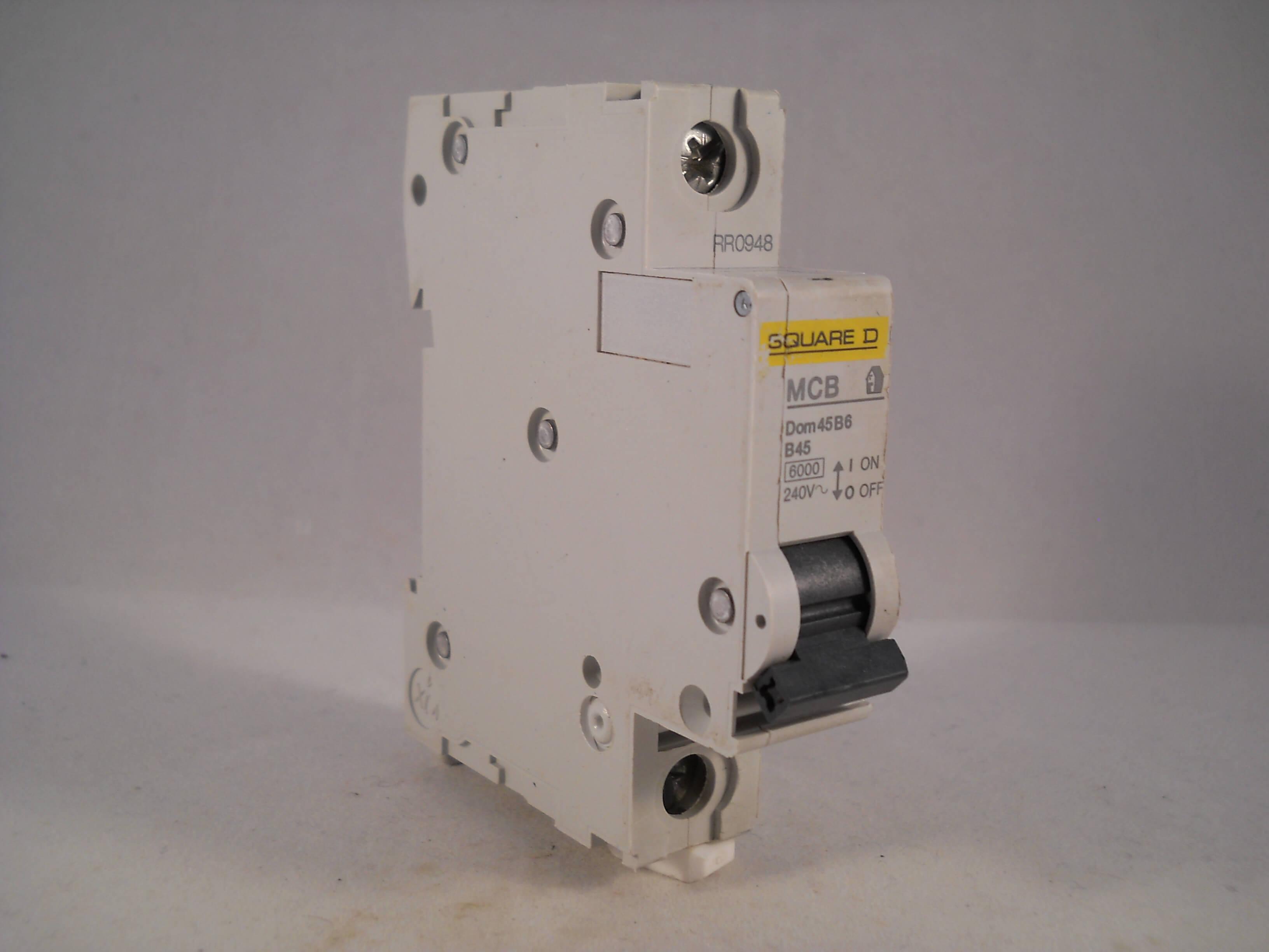 square d mcb 45 amp single pole circuit breaker b45 type b 45a domae rh willrose electrical co uk Universal Painless Wiring Fuse Block Marine Fuse Box