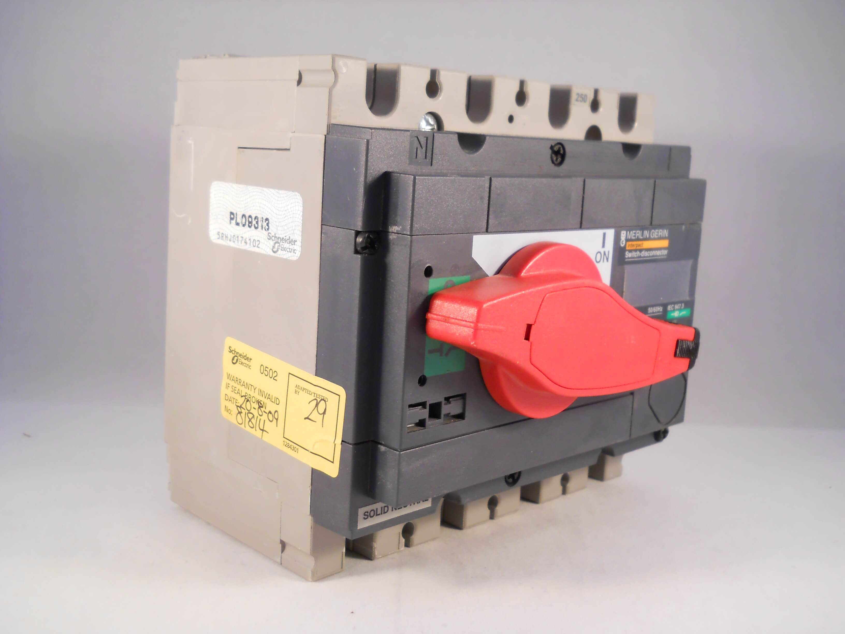 Merlin Gerin 250 Amp Four Pole Switch Disconnector 250a