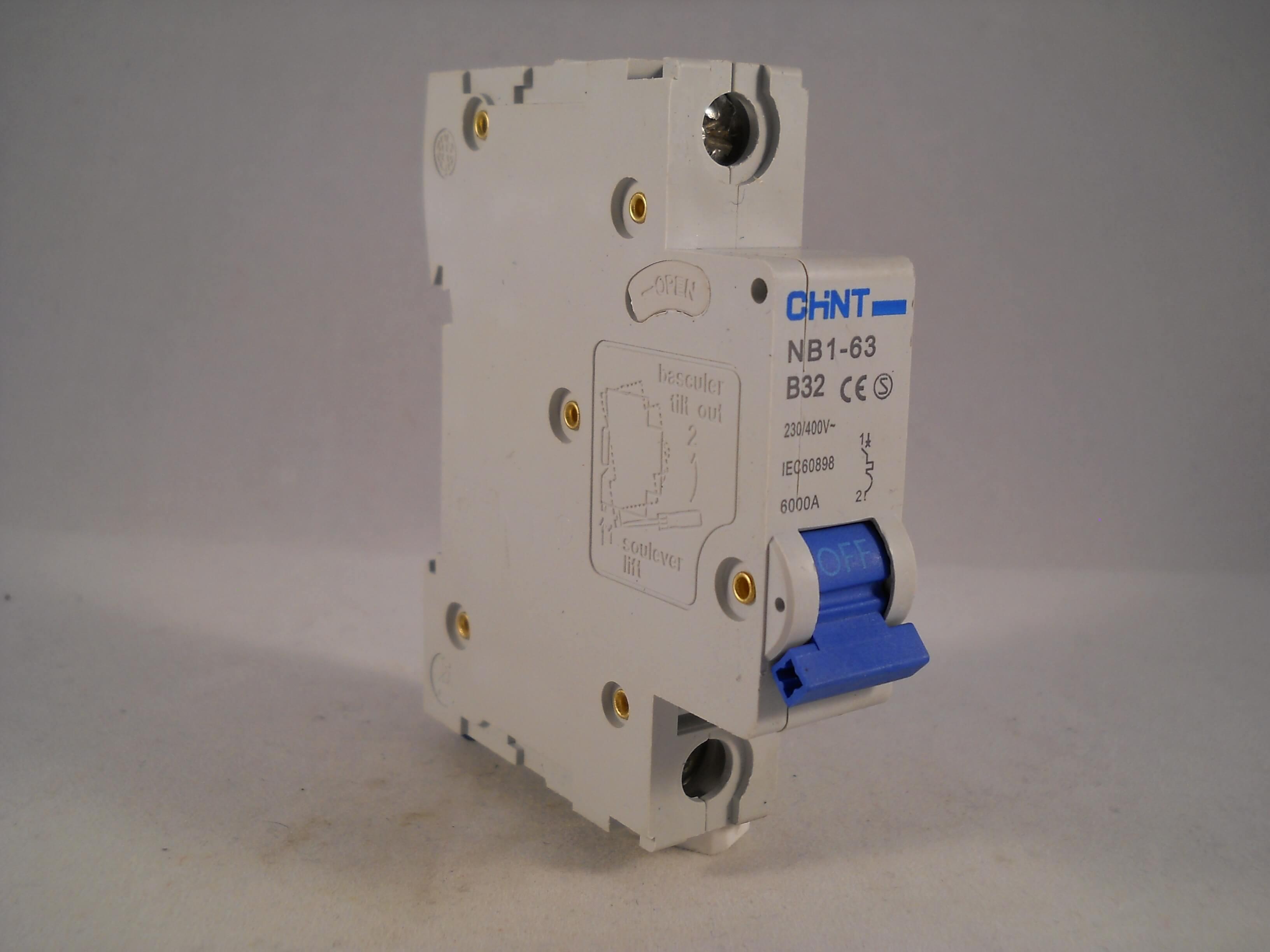 Chint Mcb 32 Amp Type B 32a Single Pole Circuit Breaker