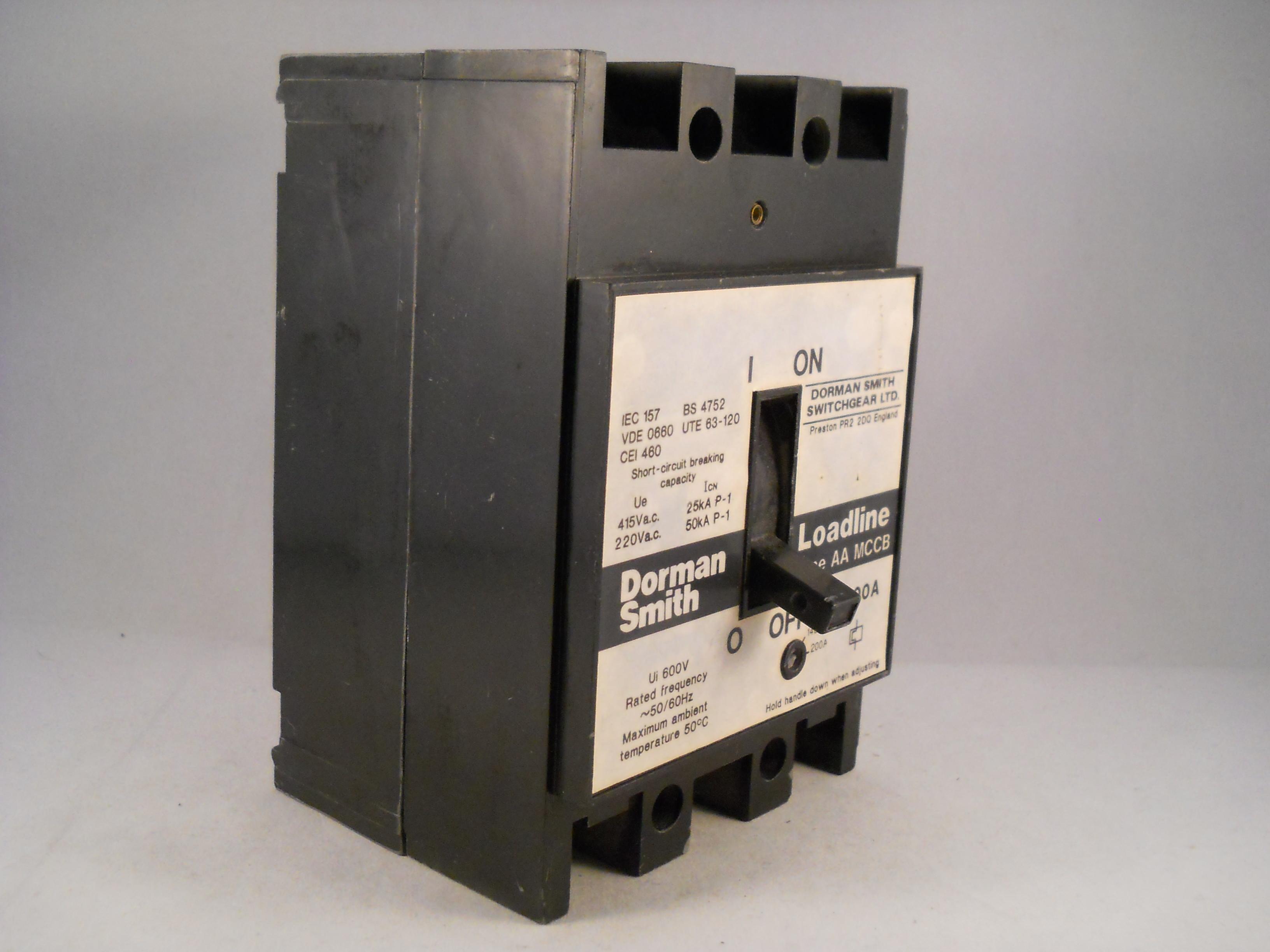 Dorman Smith Loadline MCCB 200 Amp Triple Pole 3 Phase 200A AA ...