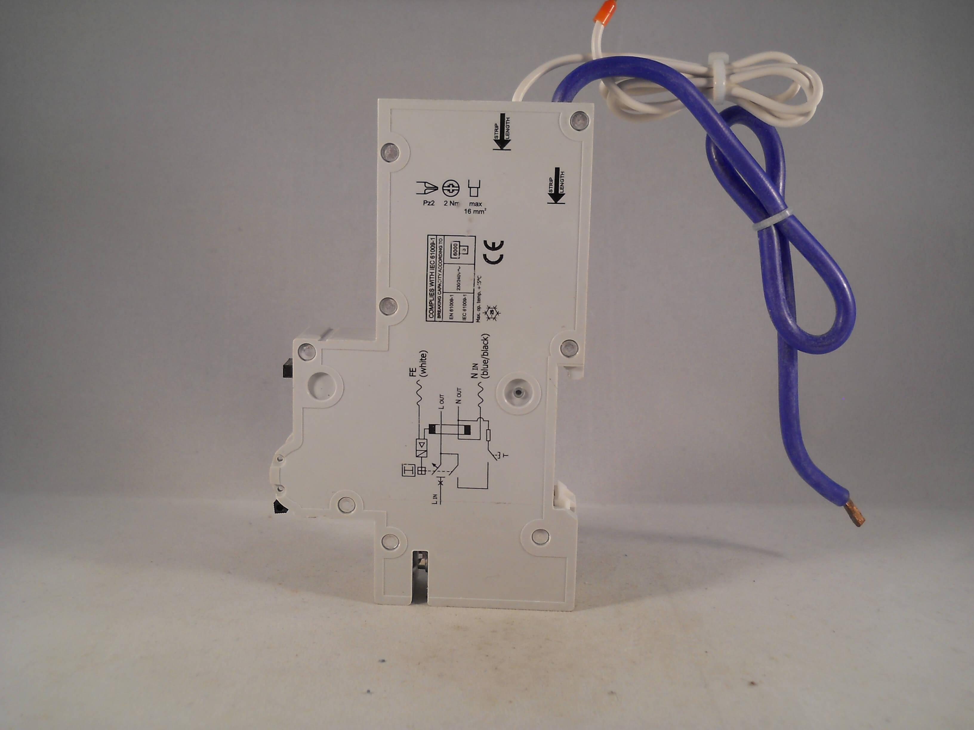 Wylex NHXSBS1B40 RCBO40 Amp Type B40 30mA 230V B40 Circuit Breaker New Boxed